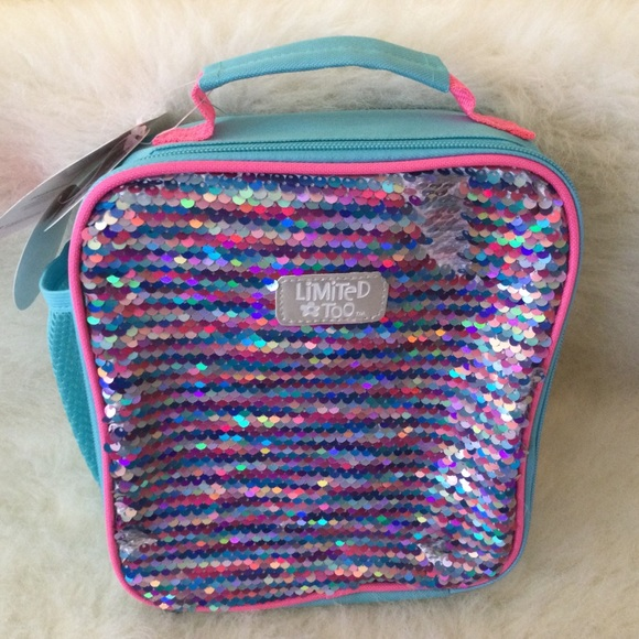 💕2/$20💕LIMITED TOO💯💜💖SEQUIN LUNCH BAG